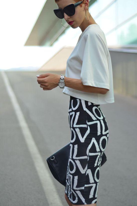 Graffiti Printed Skirt