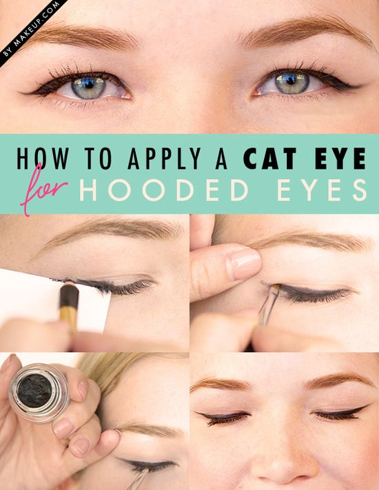 how to apply a cat eye for hooded eyes // love this!