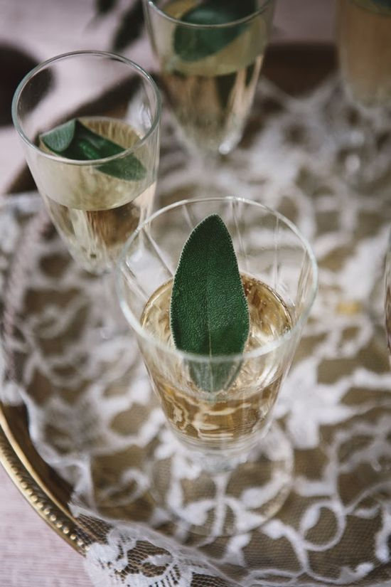 Sage + Champagne.