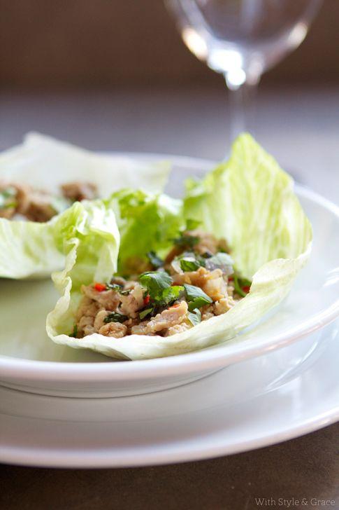 Chicken lettuce cups