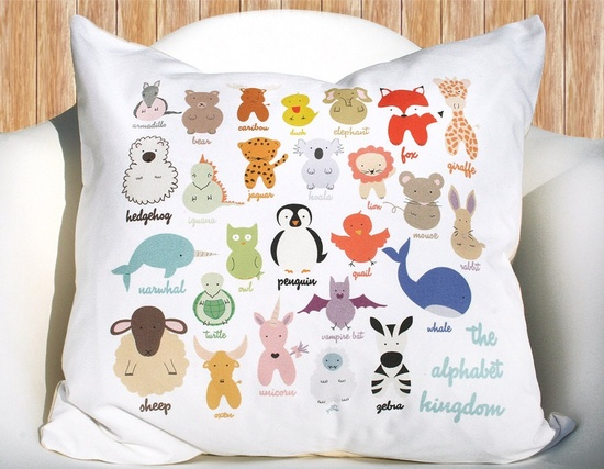 Alphabet Animal Kingdom Pillowcase