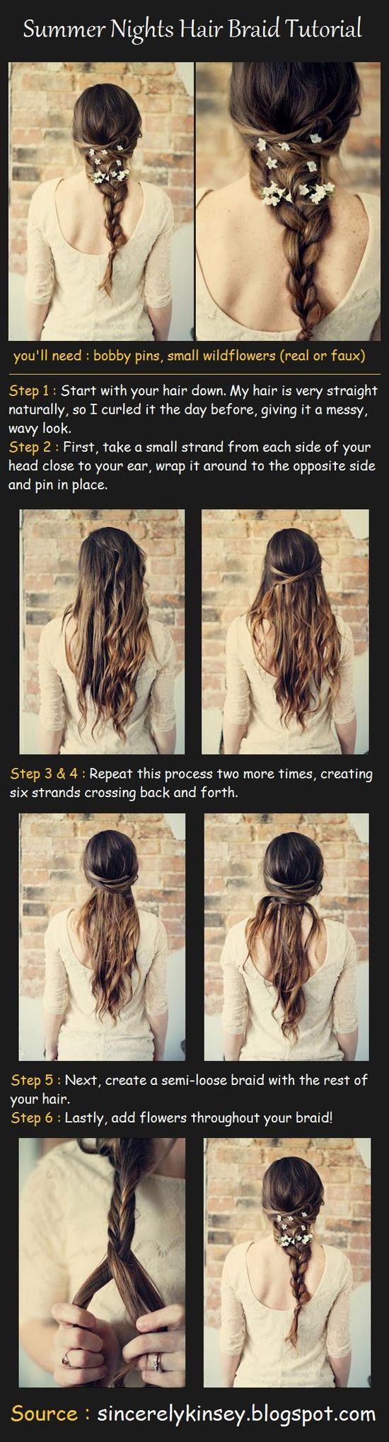 Summer Nights Hair Braid Tutorial