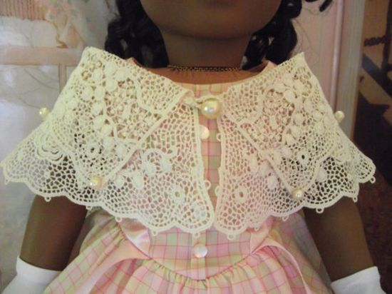 American Girl Antique Irish Needle Lace Historical Shawl 1800s OOAK $46.99