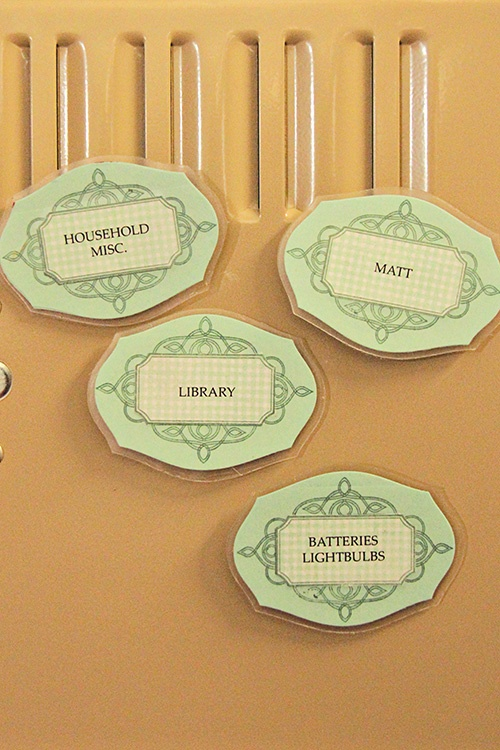 Homemade Embellishments - Laminated Magnetic Labels by Erin Lincoln for Papertrey Ink (July 2012)