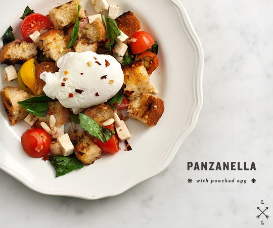 poached egg makes everything better \\ Panzanella with a poached egg