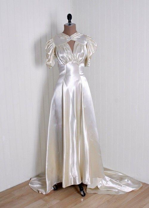 Wedding Dress  1930s  Timeless Vixen Vintage