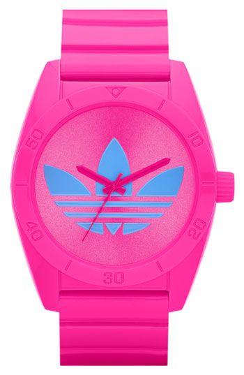 adidas 'Santiago' Polyurethane Strap Watch