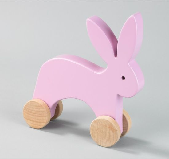 A sweet and simple Bunny Push Toy