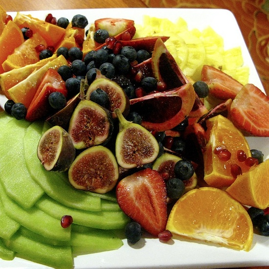 An exotic fruit platter...Oh yes!