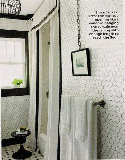 black and white, love the tiles