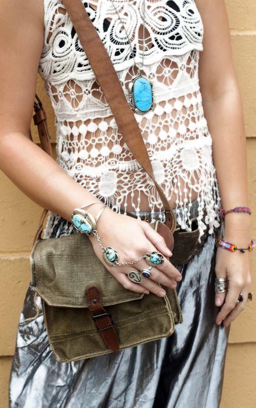 rockin' native american turquoise jewelry !
