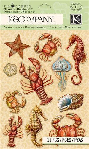 K and Company - Travel Collection - Grand Adhesions - Sea Icons  $4.39