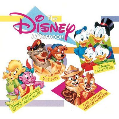 The Disney Afternoon!!! Gummi Bears, Tale Spin, Ducktakes, Chip N Dale Rescue Rangers, Gargoyles, Goof Troop, Darkwing Duck, All the best shows!