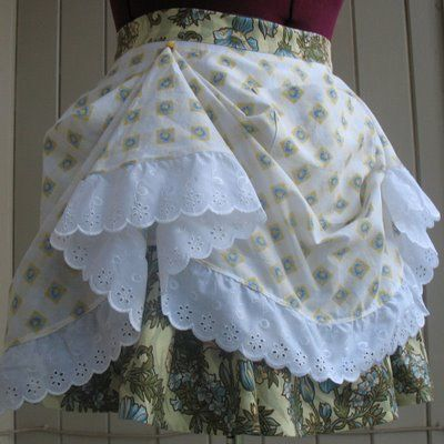 I want to make this apron...maybe make it a skirt.