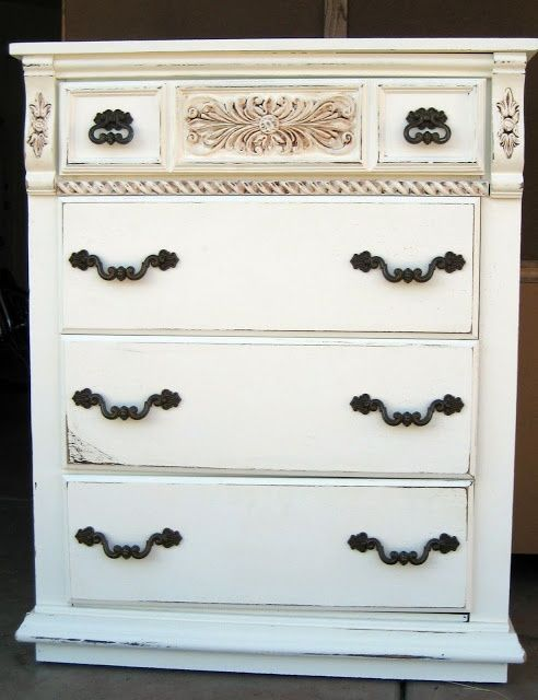 Shabby Chic Dresser - myshabbychicdecor... - #shabby chic #home decor #design #ideas #wedding #living room #bedroom #bathroom #kithcen #shabby chic furniture