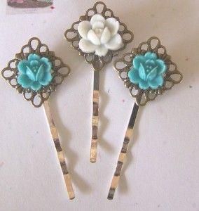 Hair pins: DIY project. #crafts #accessories #fashion #DIY