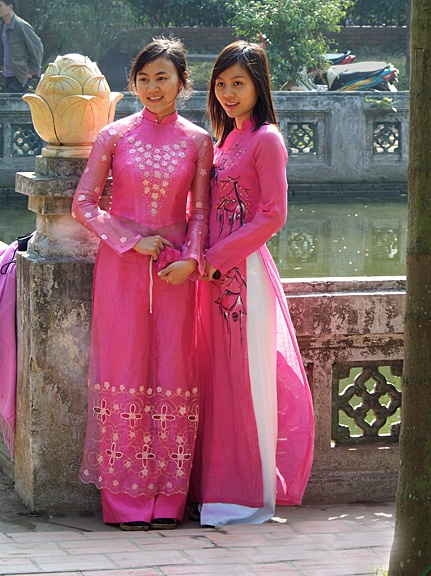 via www.mountainadven...  Hanoi, Vietnam. The Ao Dai, Vietnam's classic dress.