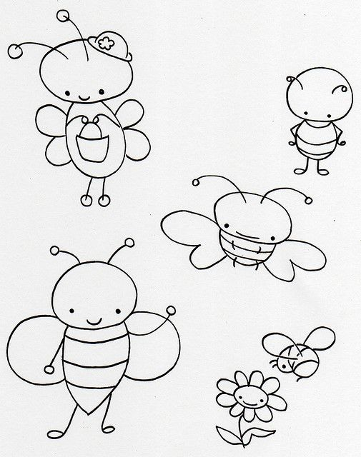 Cute little bugs free embroidery pattern
