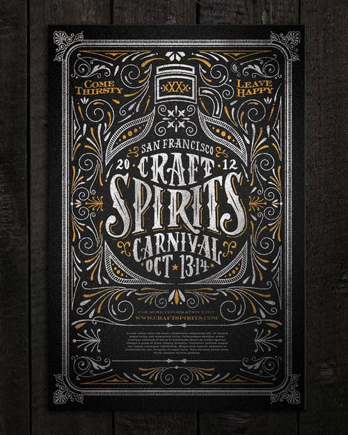 Typeverything.com Craft Spirits Carnival poster by Joel Felix.