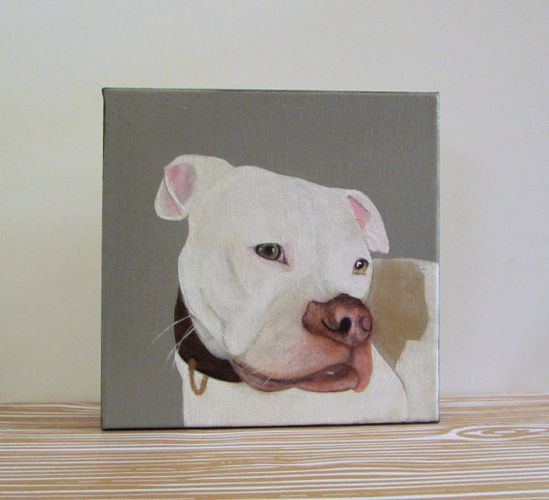 Custom Dog Painting Pet Portrait 8x8 Original Art by redtilestudio, #pet #portrait #custom #dog #puppy #painting