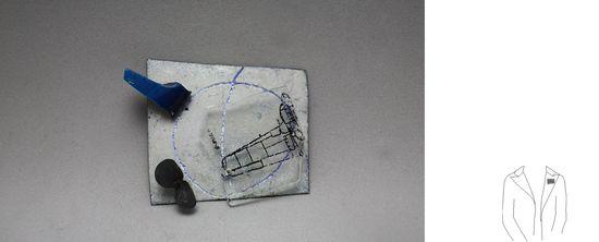 Maria Diez     delícies aèries  coure, esmalt, vidre, llautó oxidat  ref. pV 1  serie VIATGE