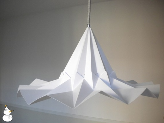 Parchment paper Snowbell lampshade