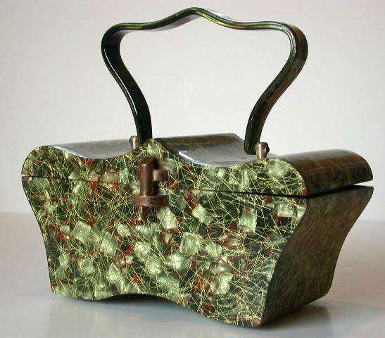 Ravishing confetti lucite purse by Myles