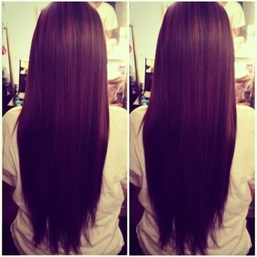 straight hair , I want my hair this long