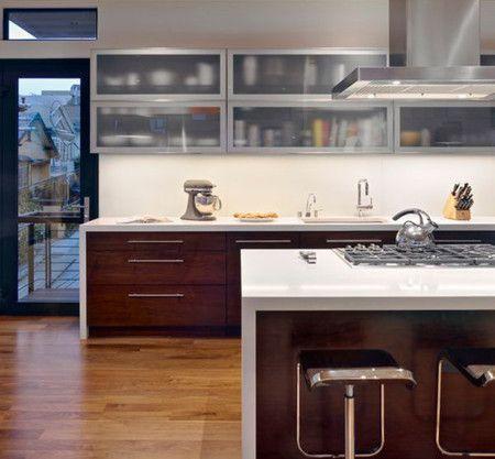 Glass Cabinets Small Kitchen Interior Design Ideas - Kitchen