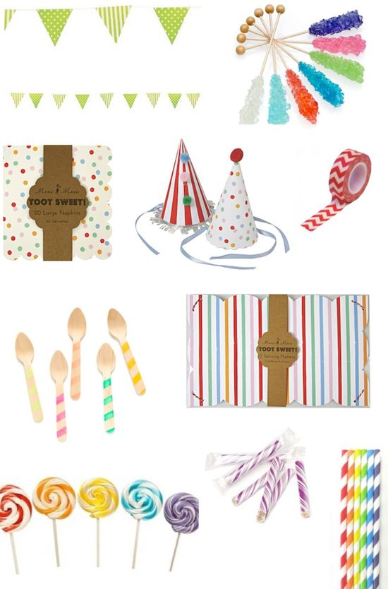 Super cute party supplies! Awesome party shop that has it all - Kara's Party Shop! Great prices, too! KarasPartyIdeas.com