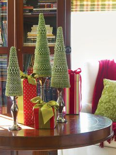DIY Beaded Christmas Trees