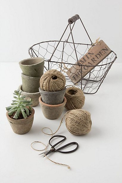 Garden Tools Basket / Anthropologie.com #garden