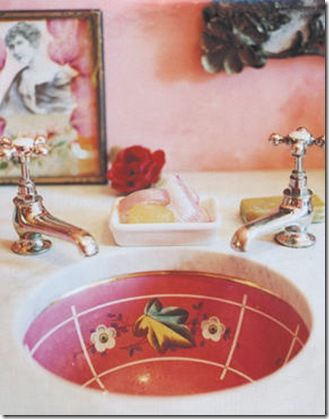 Painted sink