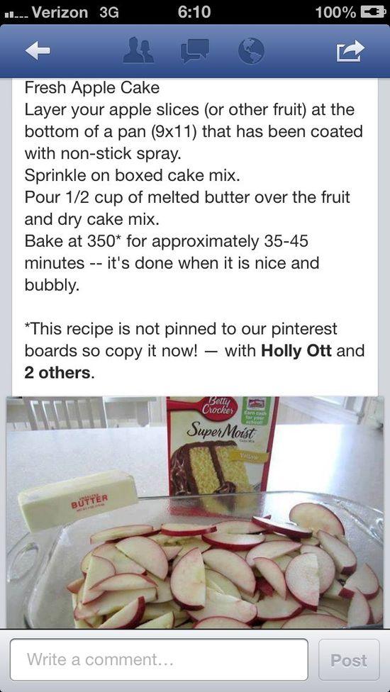 ? Easy Apple Cake!