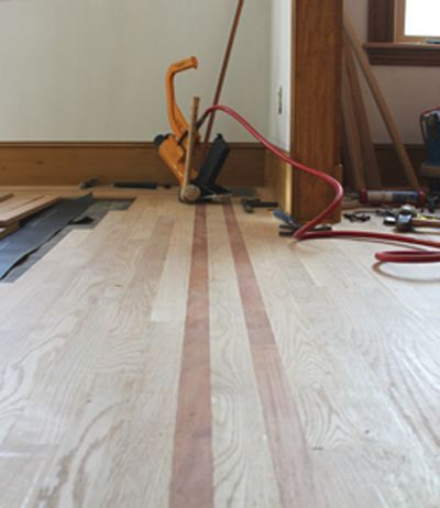 Installing a Hardwood Border. #floor interior #modern floor design #floor design #floor decorating before and after #floor decorating