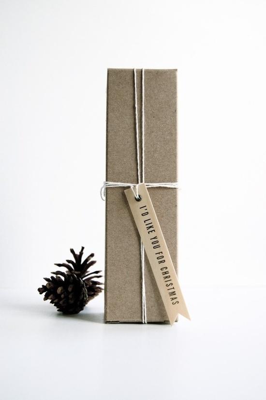 wood Gift tag