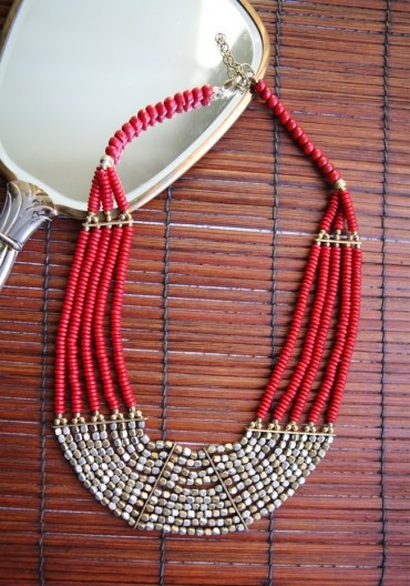 Orithia Beaded Necklace by shopruche