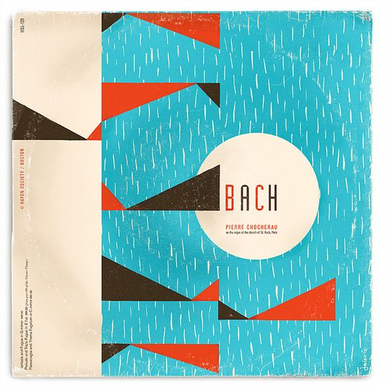 Fictitious Bach Record Cover by Javier Garcia