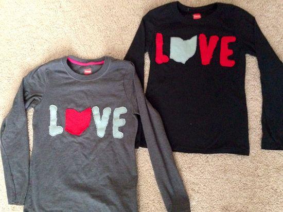 Ohio Love Kids Shirts on Etsy, $17.00