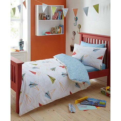 Ben de Lisi Home Designer boy's white 'Paper Planes' bedding set- at Debenhams.com