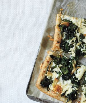 Get the recipe for Broccoli Rabe and Pecorino Tart .