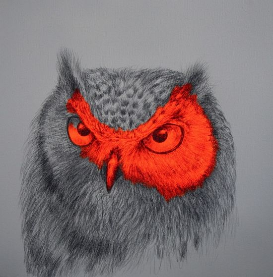 """Saatchi Online Artist: Louise McNaught; Acrylic, 2012, Painting """"Archimedes of the Wild"""""""
