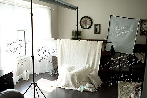 newborn photo set up