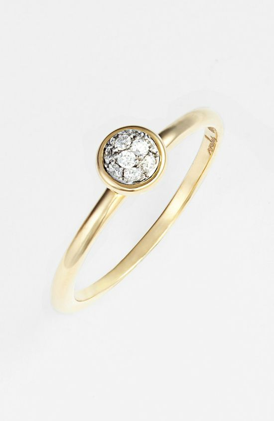 Stackable diamond ring. Love.