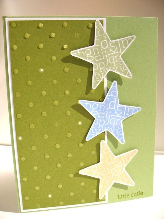 """Little Cutie"" Handmade Baby Card -- $3.75 -- #etsygreetingsteam"