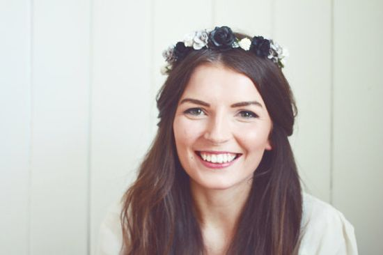 Handmade Paper Flower Crown - Grey Scale!