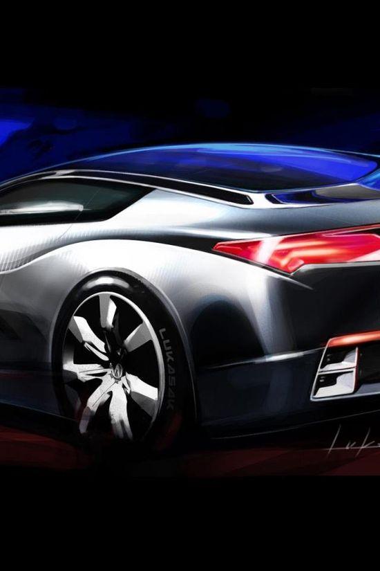 Acura Advanced Sports Car Concept blue