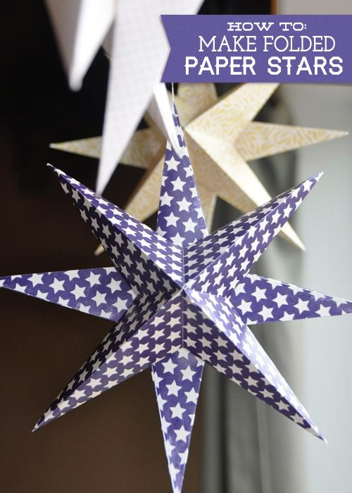 How To Make Folded Paper Stars