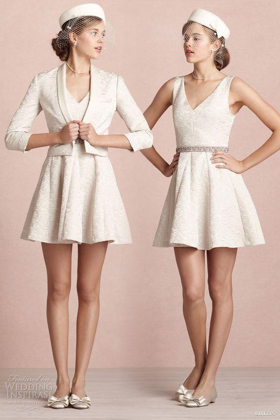 bhldn short wedding dresses 2013 frost flower