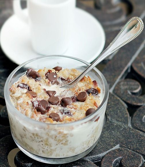 Coconut Cookie Dough Oatmeal.   Like eating a Mounds bar for breakfast…